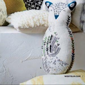 RARE - West Elm Heart Felt Owl Pillow